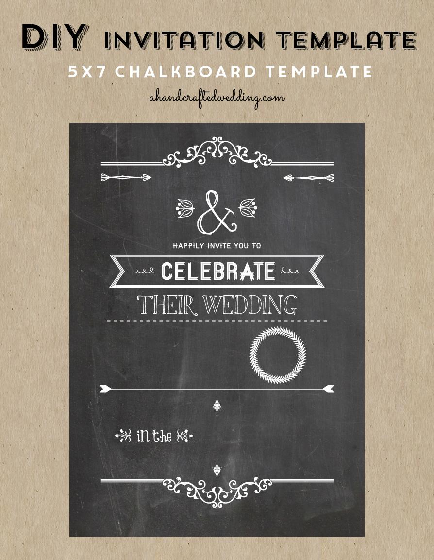 Diy Chalkboard Invitation Template