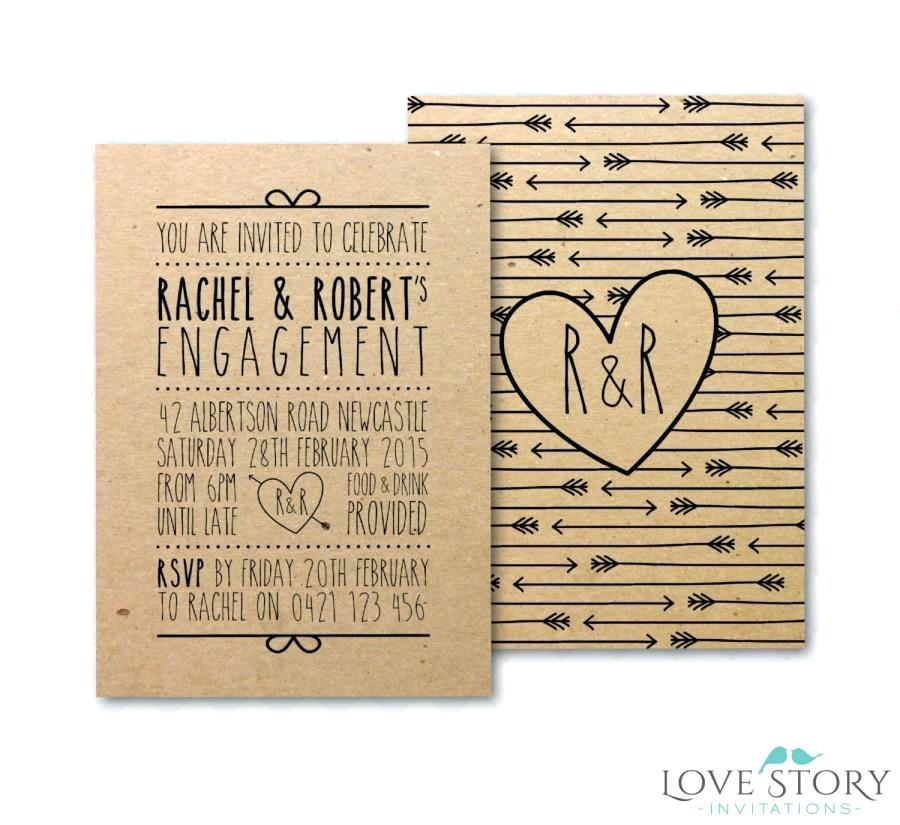 Diy Engagement Party Invitations Templates