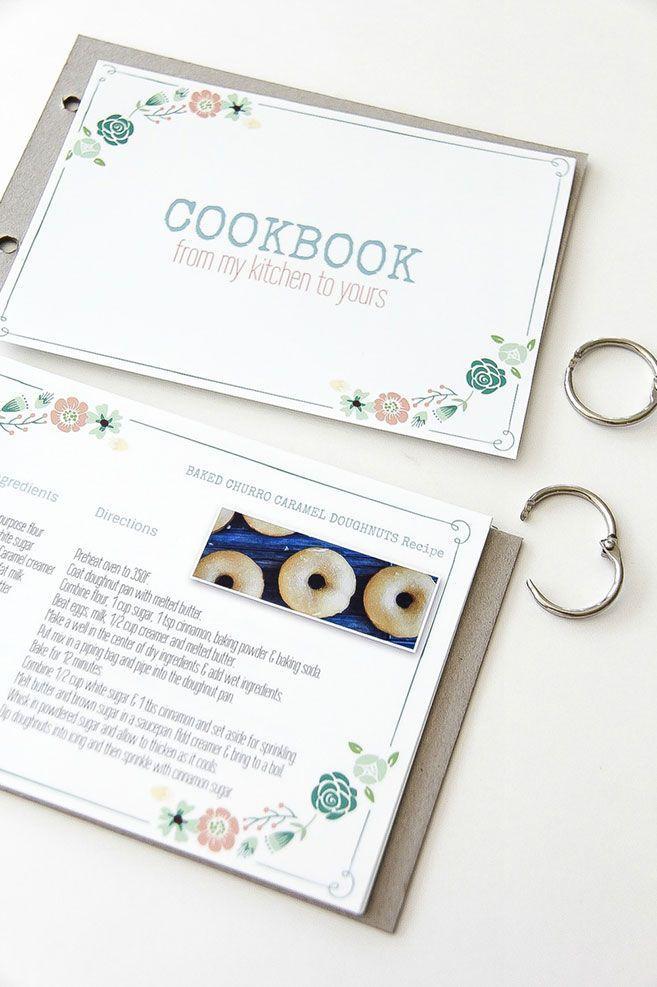 Diy Family Cookbook Template