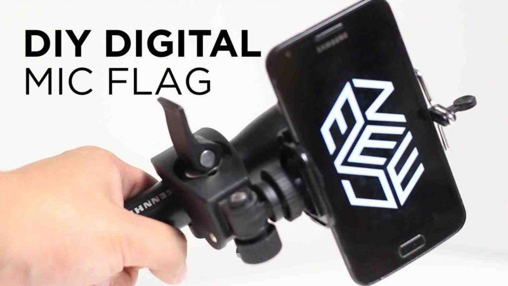 Diy Microphone Flag Template