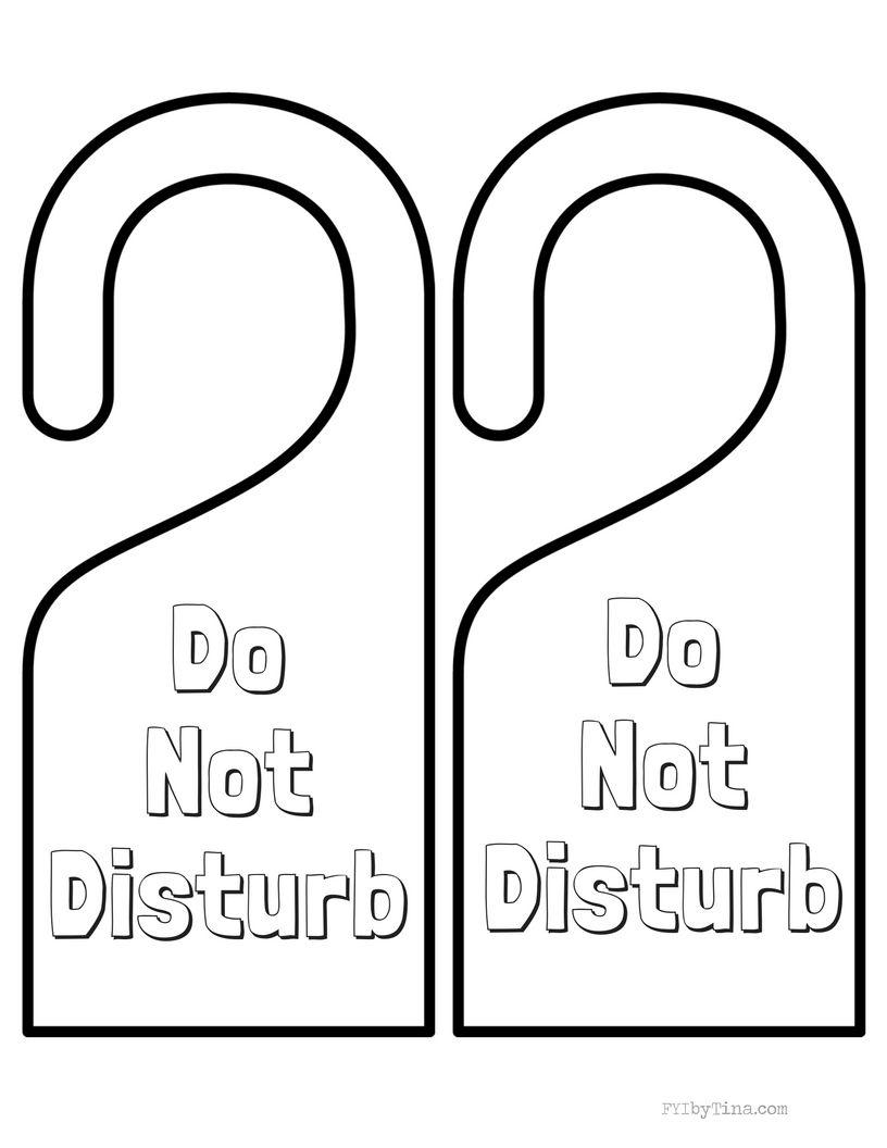 Do Not Disturb Door Hanger Printable Free