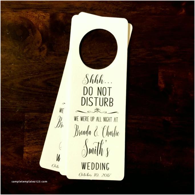 Do Not Disturb Wedding Door Hanger Template
