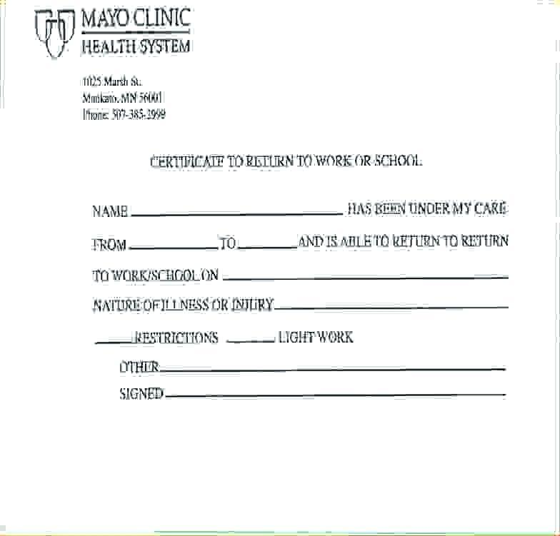 Doctors Note Template Free Word