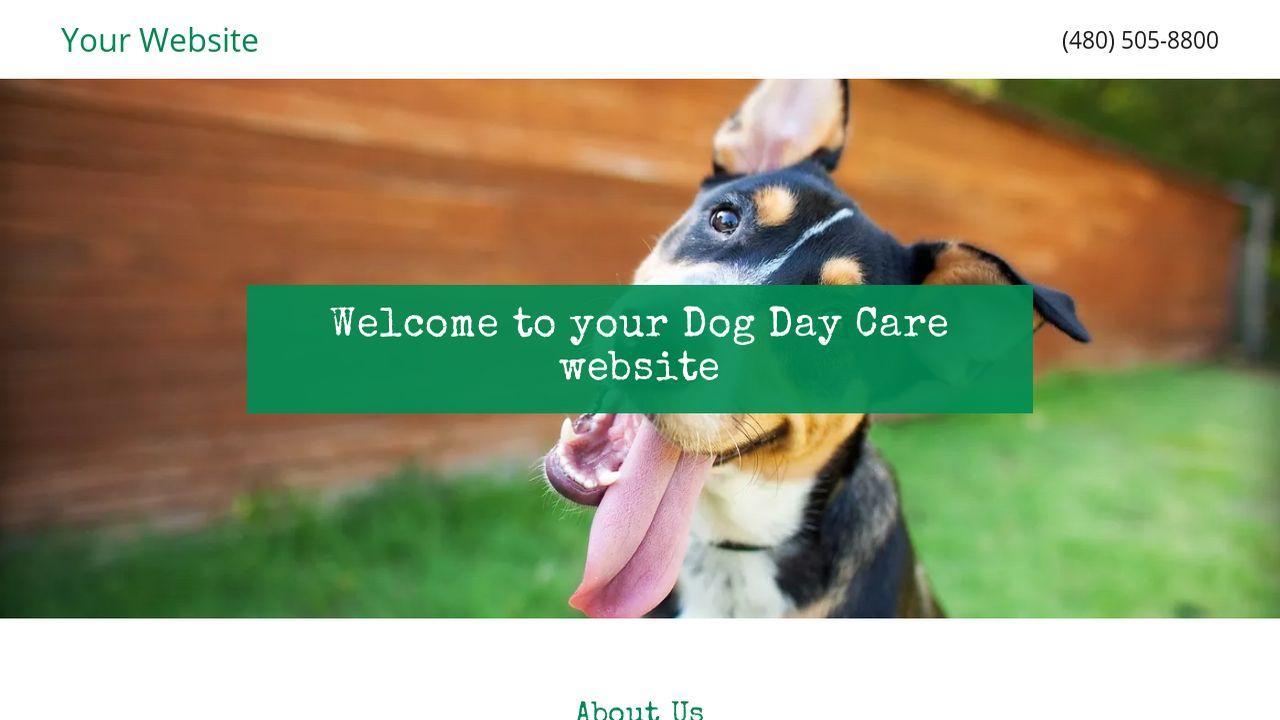 Dog Daycare Website Templates