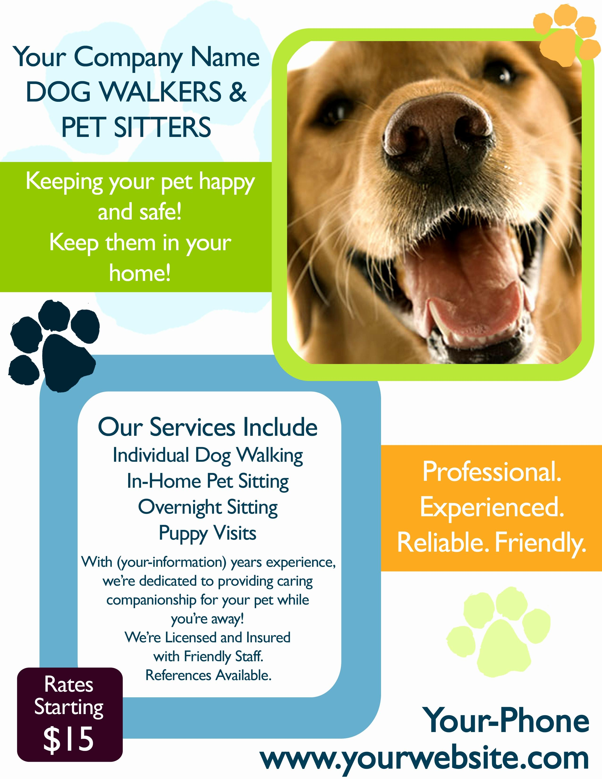 Dog Sitting Flyers Templates