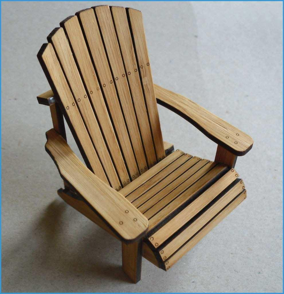 Dollhouse Adirondack Chair Template