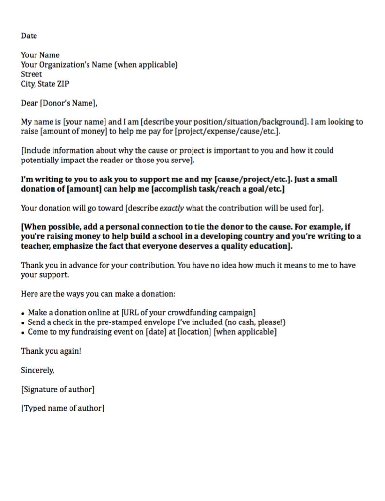 Donation Letter Templates Free