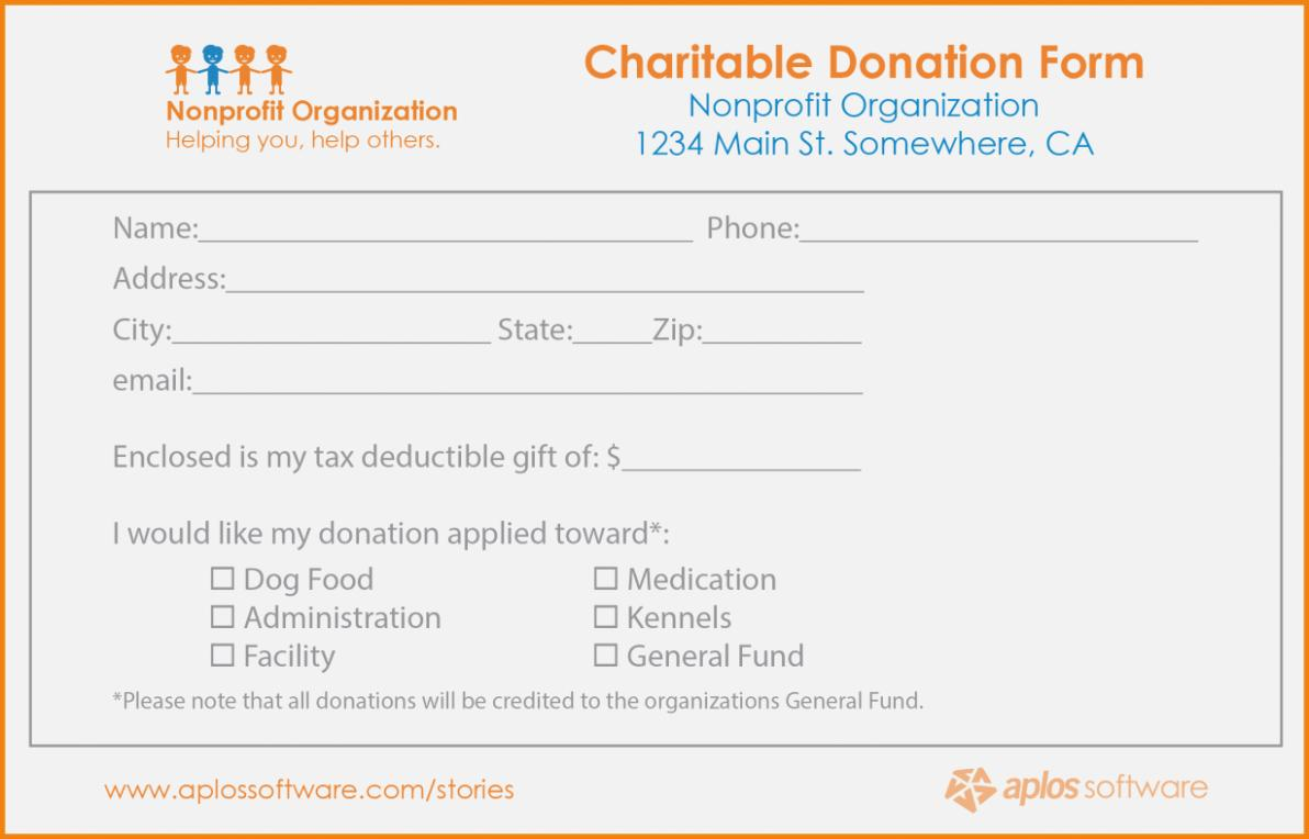 Donation Pledge Form Template