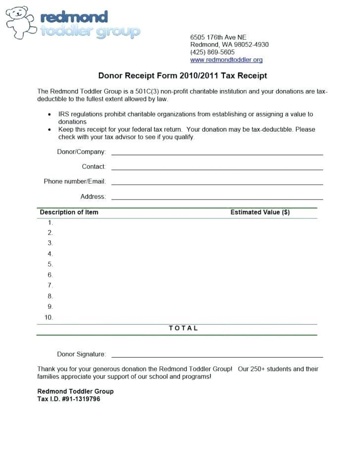 Donation Receipt Format 80g