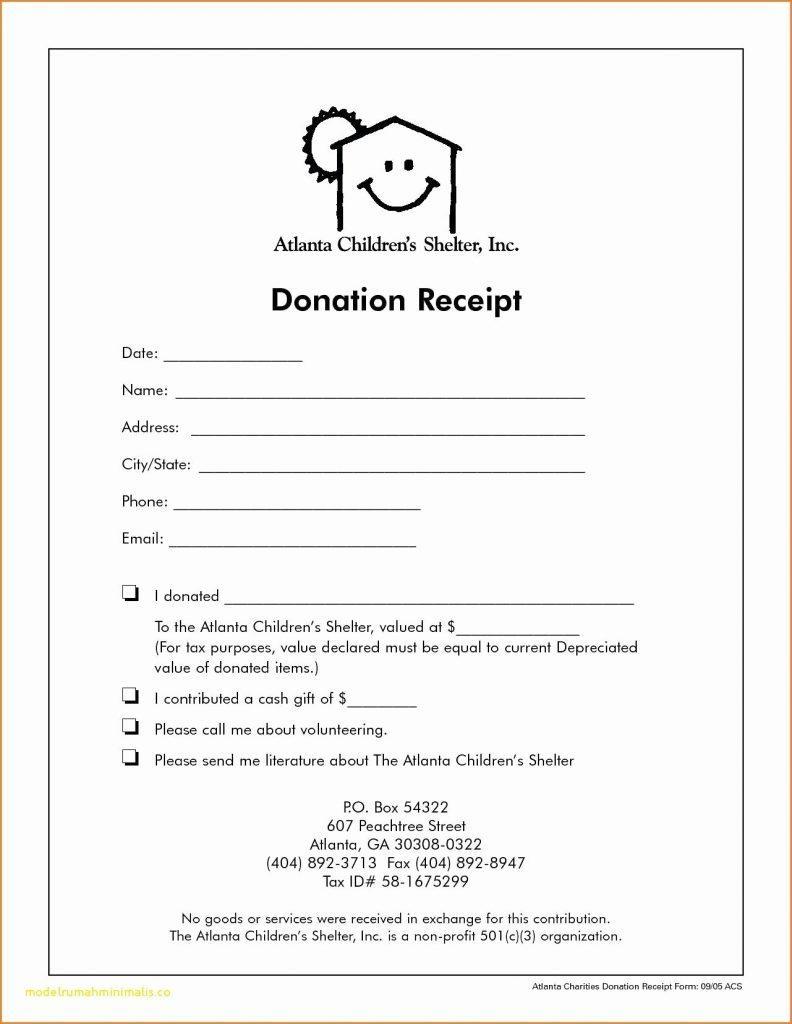 Donation Receipt Format Pdf