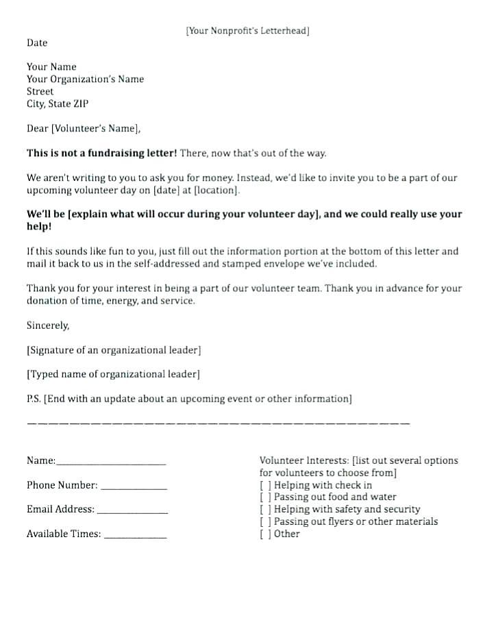 Donation Request Letter Template For Nonprofit