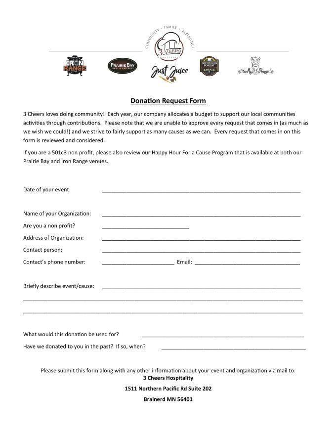 Donation Request Letter Template For Sports