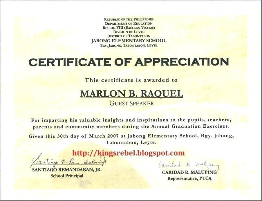 Donor Appreciation Certificate Templates
