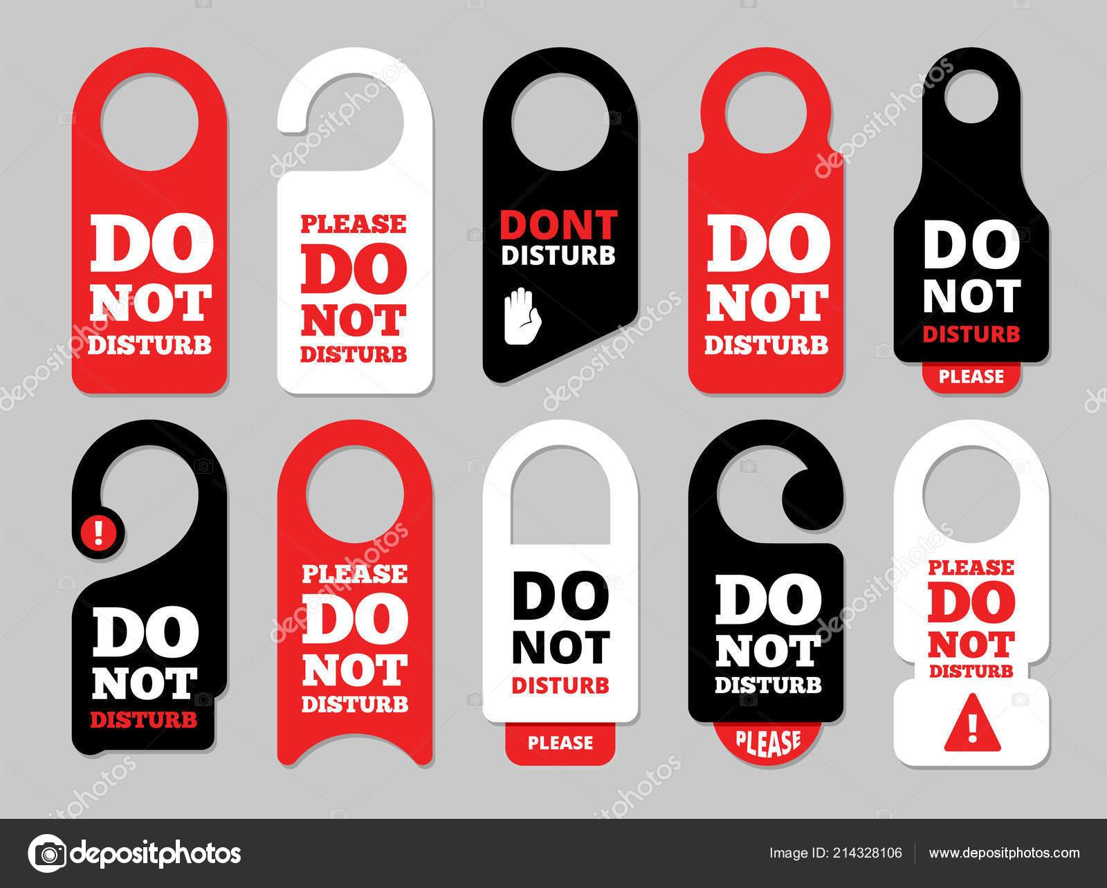 Door Hanger Template Vector