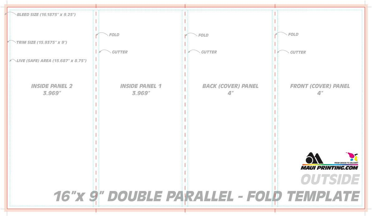 Double Parallel Fold Brochure Indesign Template