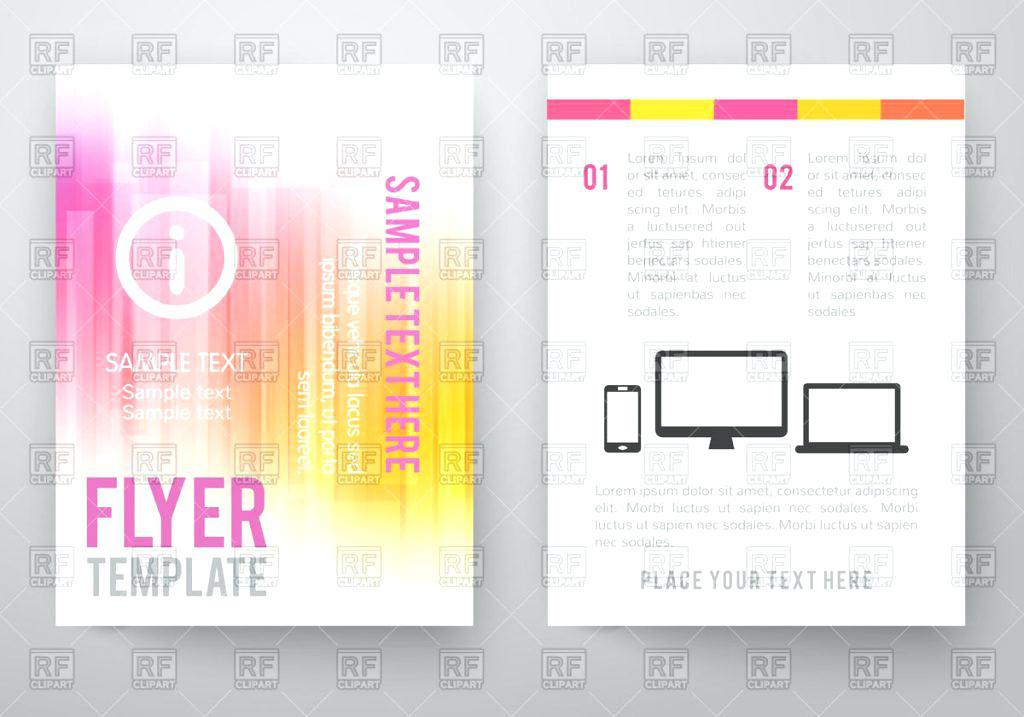 Double Sided A5 Flyer Template Word