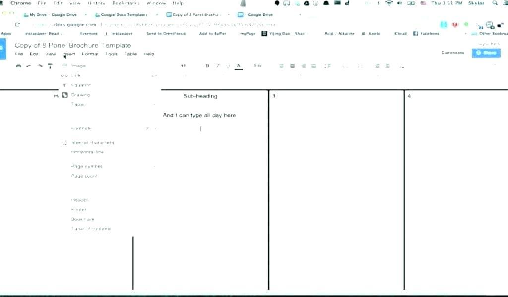 Double Sided Brochure Template Google Docs