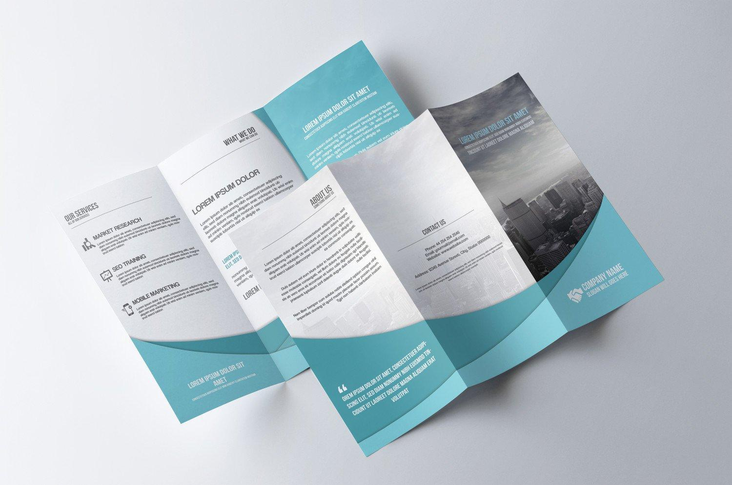Double Sided Tri Fold Brochure Template