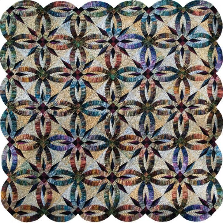 Double Wedding Ring Star Quilt Pattern