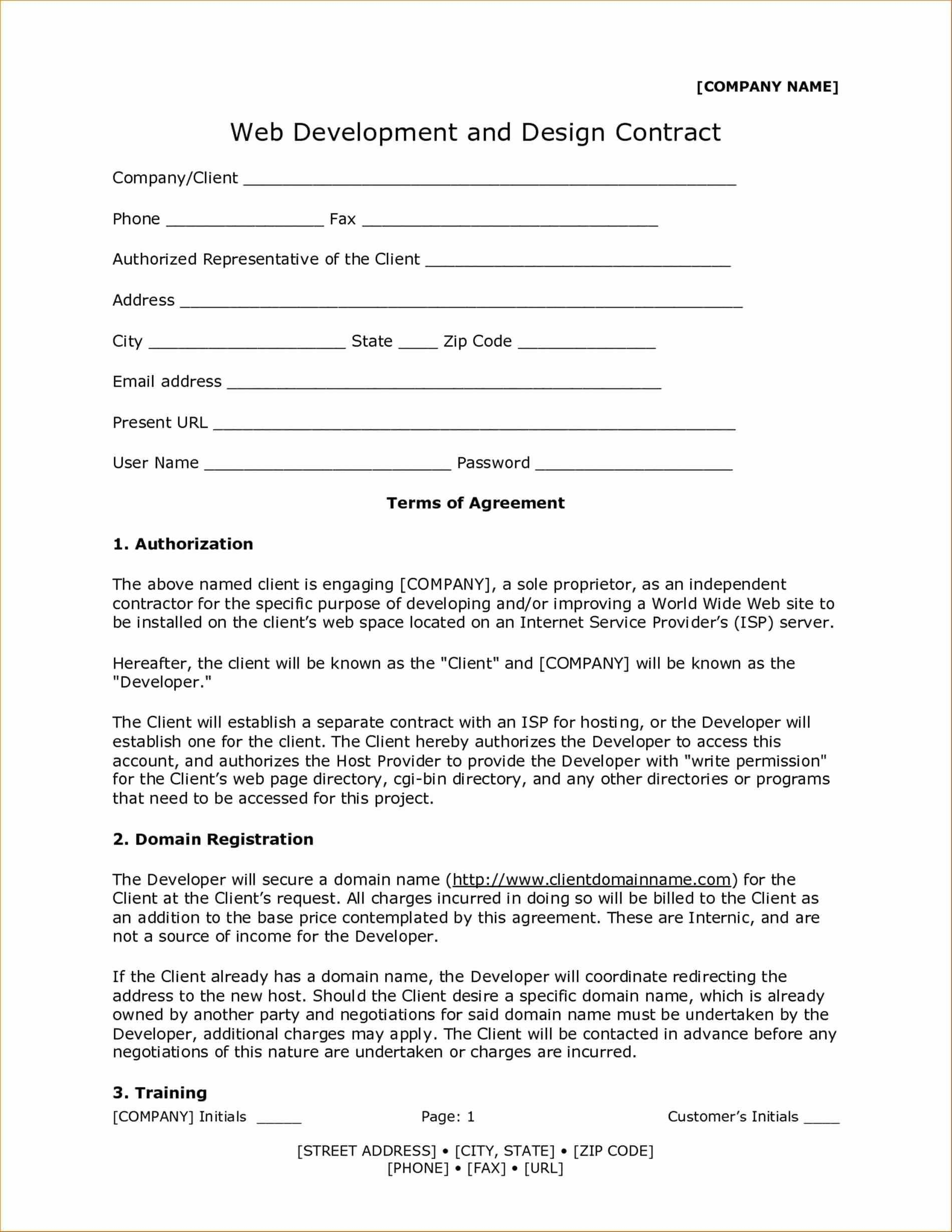 Down Payment Contract Template