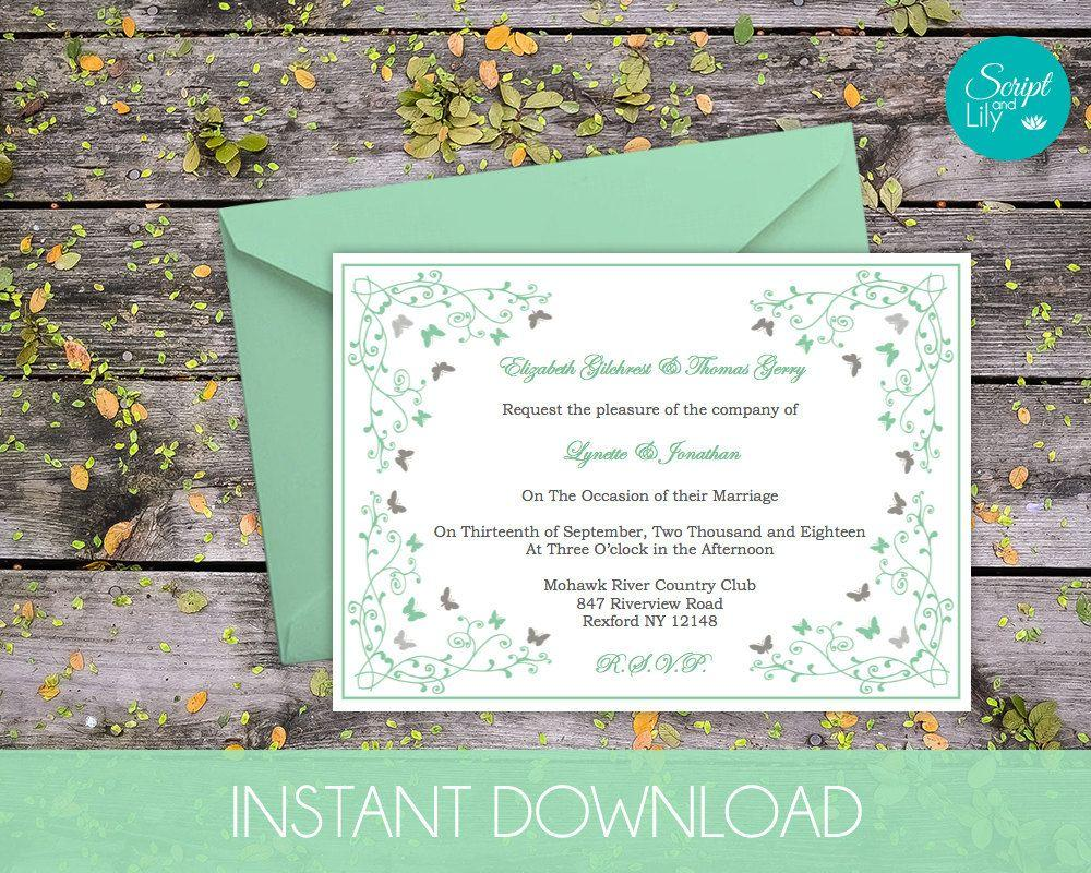 Download Butterfly Invitation Template