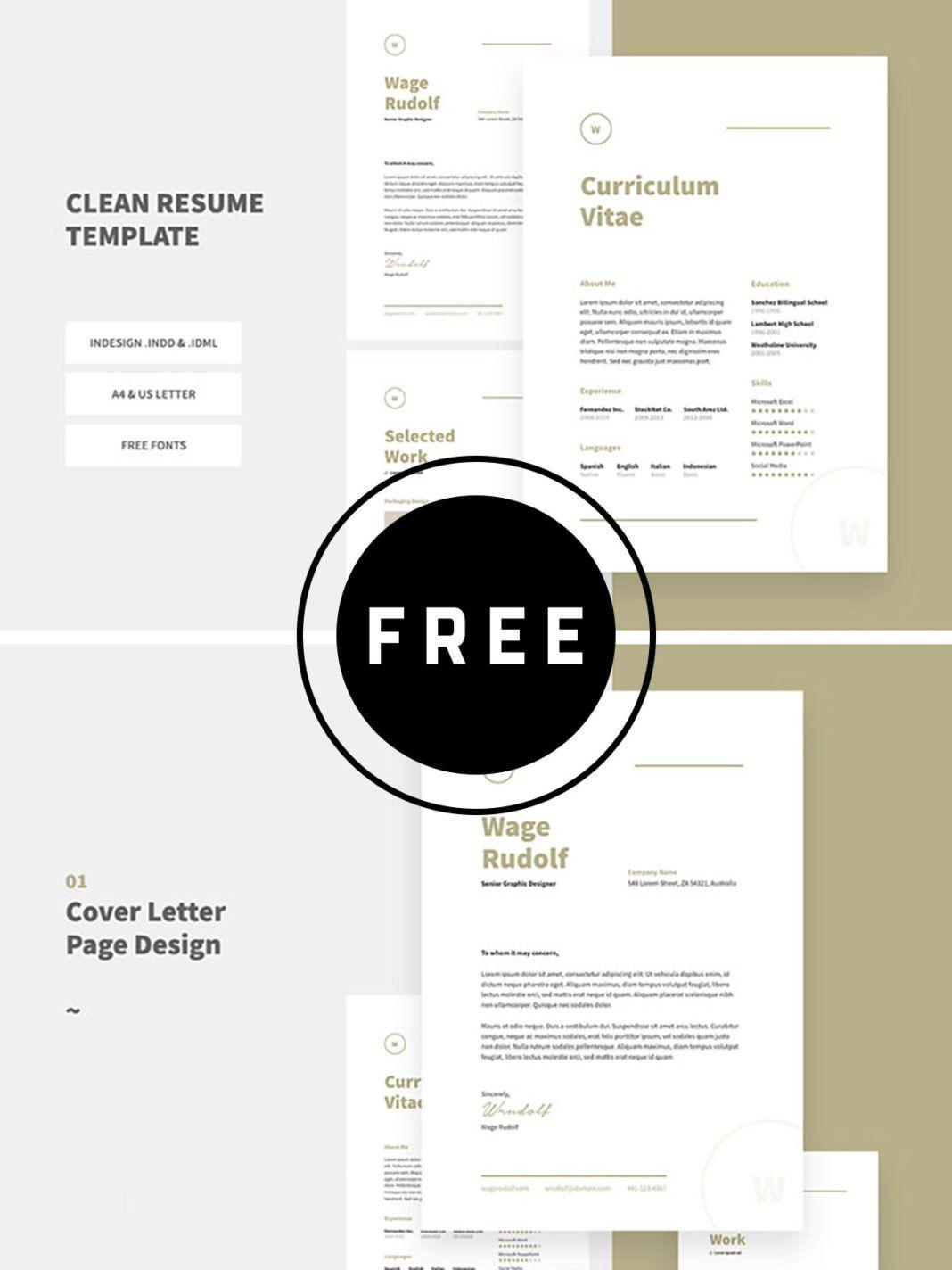 Download Free Indesign Cv Template
