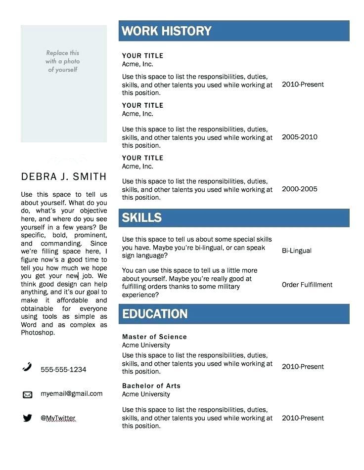 Download Free Resume Templates For Microsoft Word