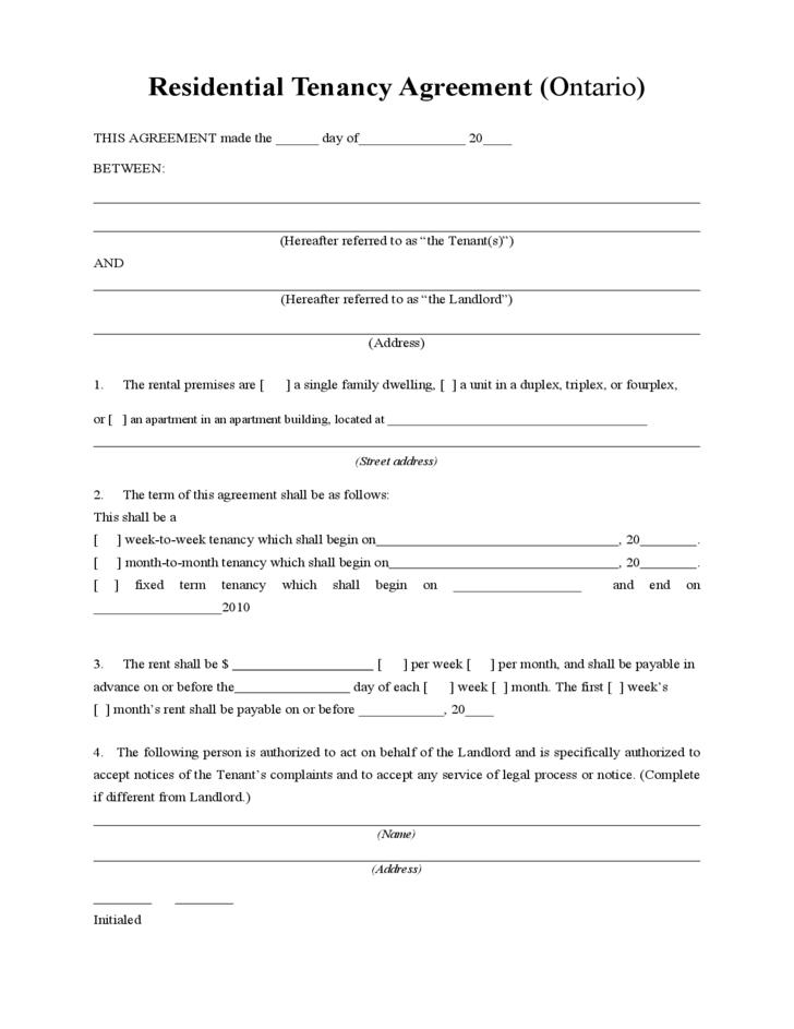Download Lease Agreement Form