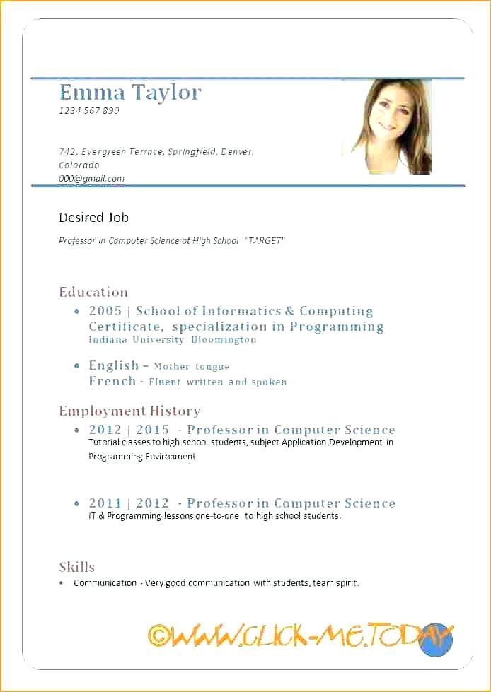 Download Resume Samples Pdf