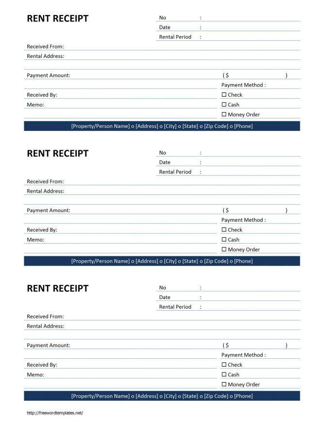 Downloadable Cash Receipt Template