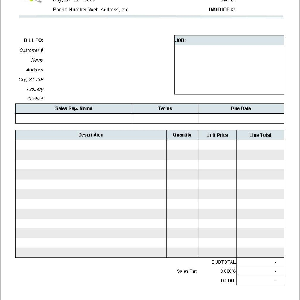 Downloadable Invoice Templates Free