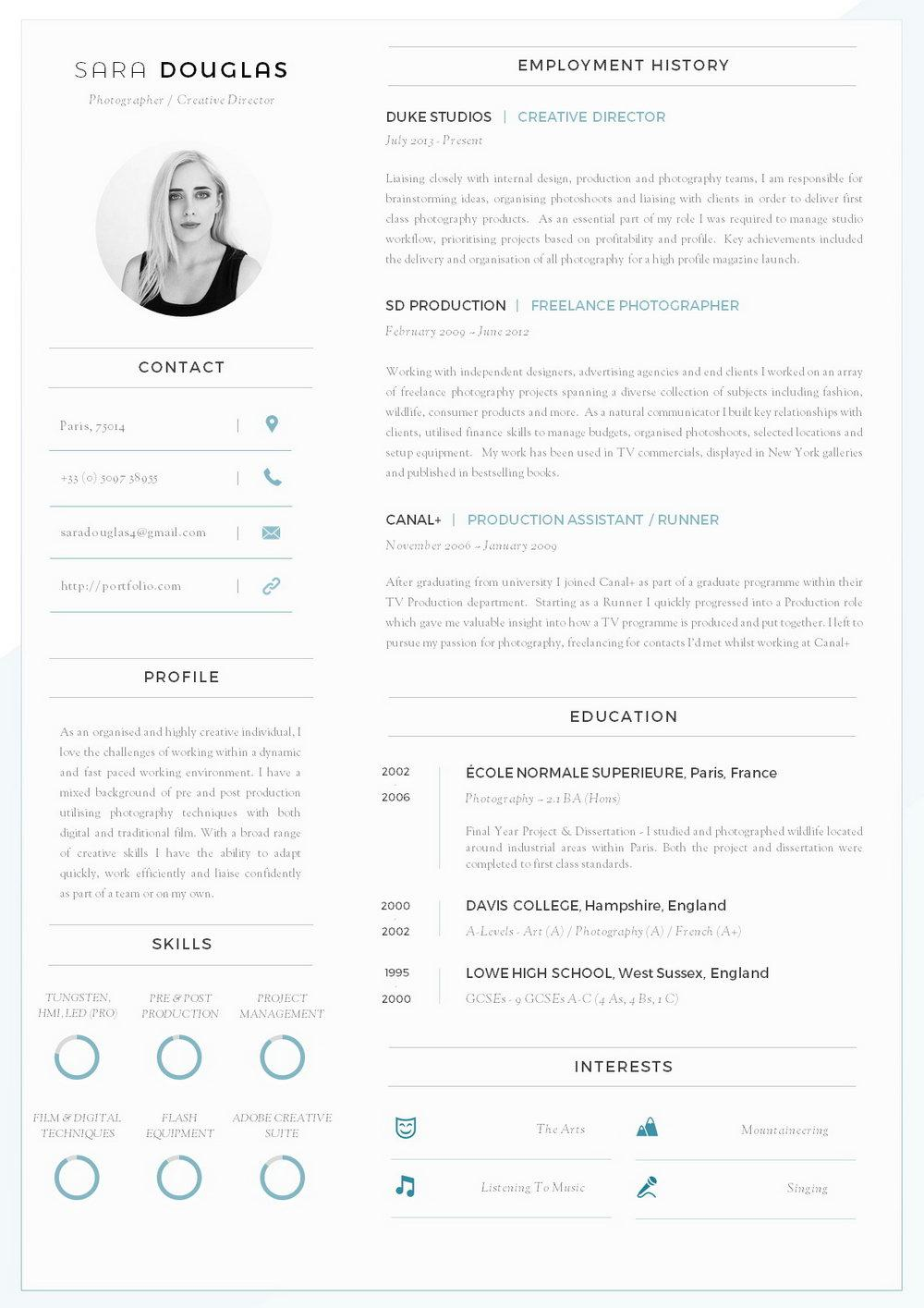 Downloadable Modern Resume Templates