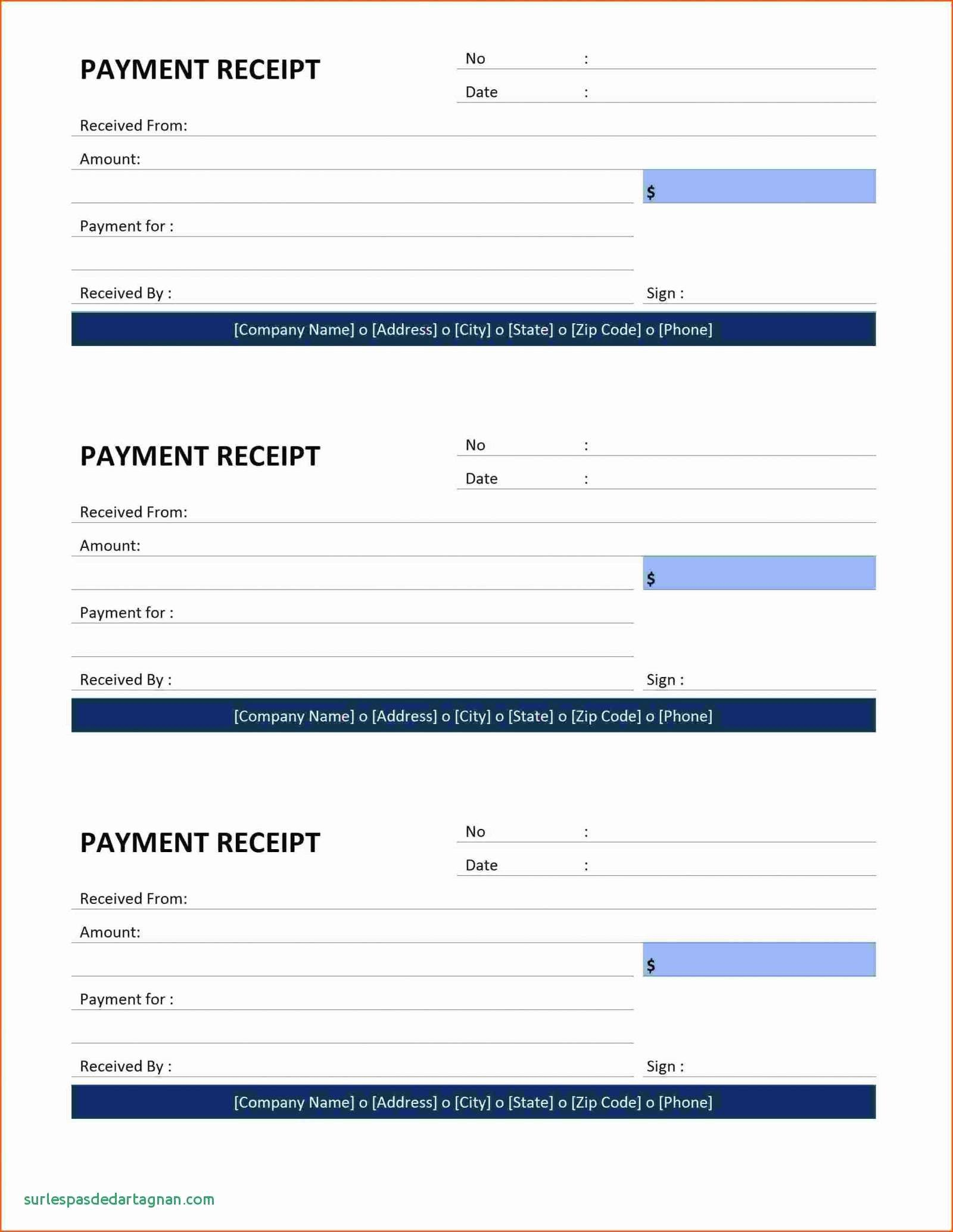 Downloadable Payment Receipt Template