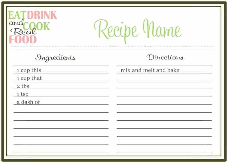 Downloadable Recipe Book Template