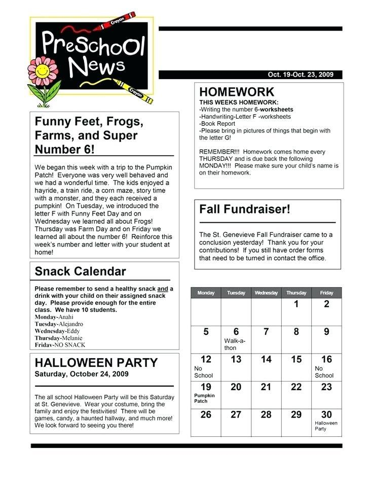 Downloadable Teacher Newsletter Templates