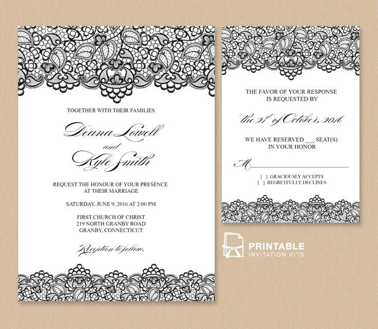 Downloadable Wedding Invitation Templates Free