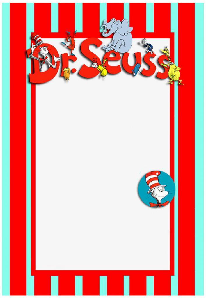 Dr Seuss Birthday Invitations Templates Free