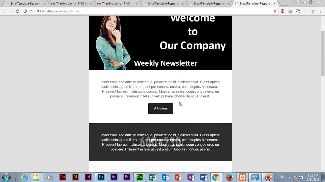 Dreamweaver Email Templates Free Download