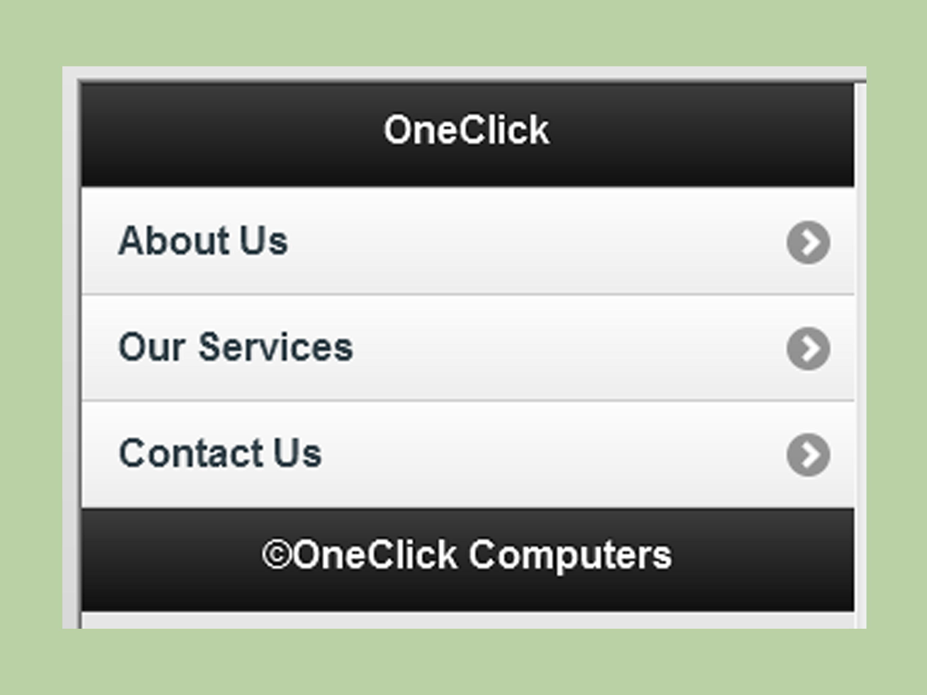 Dreamweaver Mobile Website Template