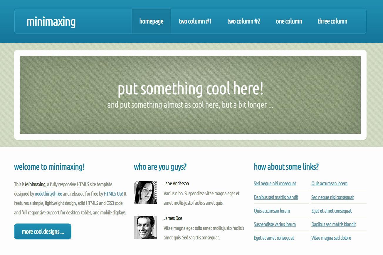 Dreamweaver Personal Website Templates Free