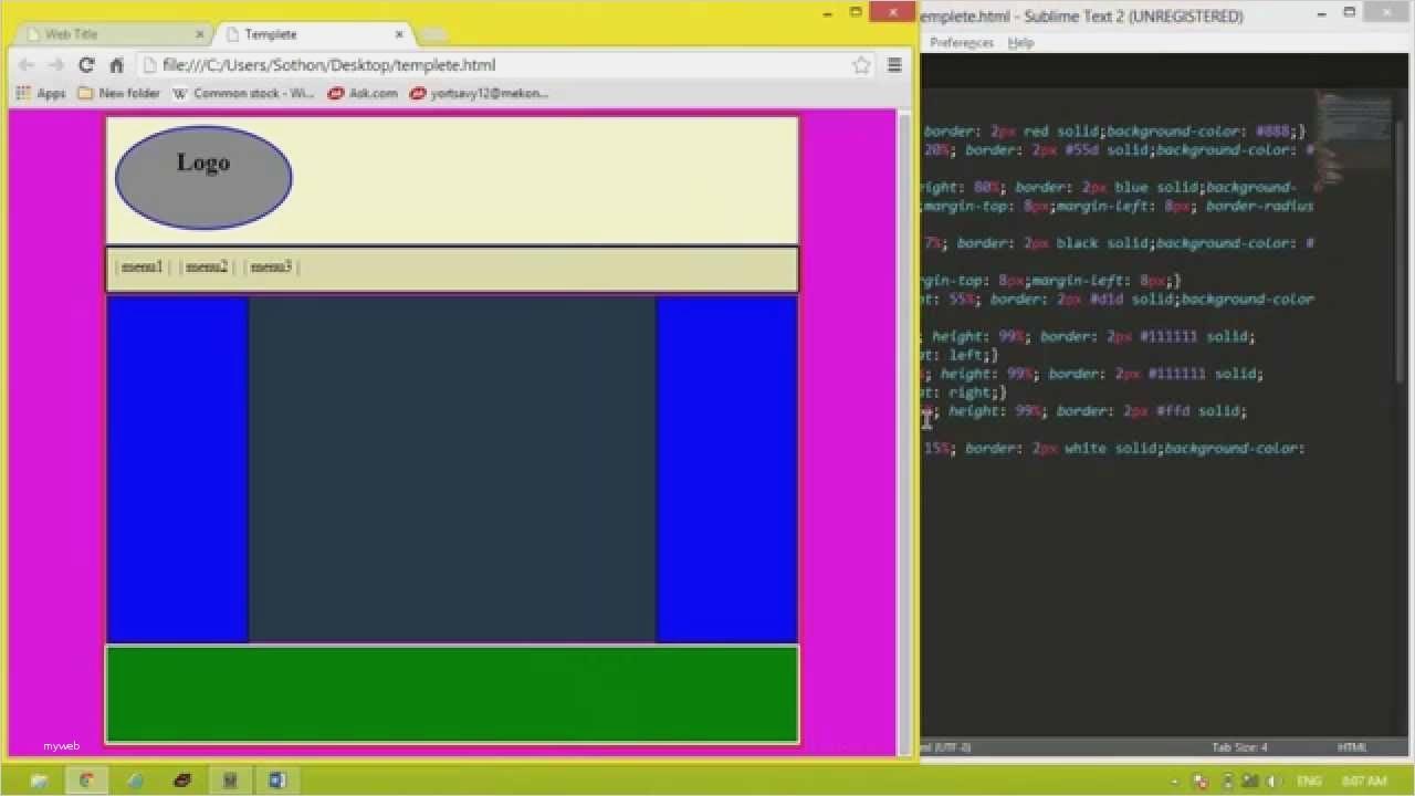 Dreamweaver Website Templates Code