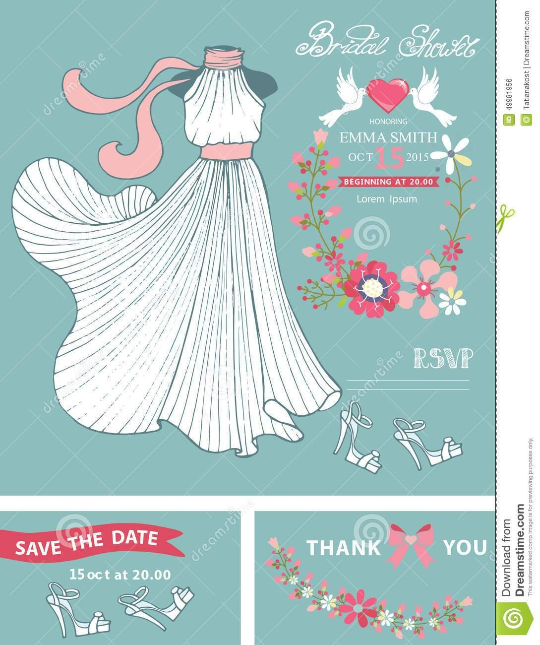 Dress Shaped Invitation Template