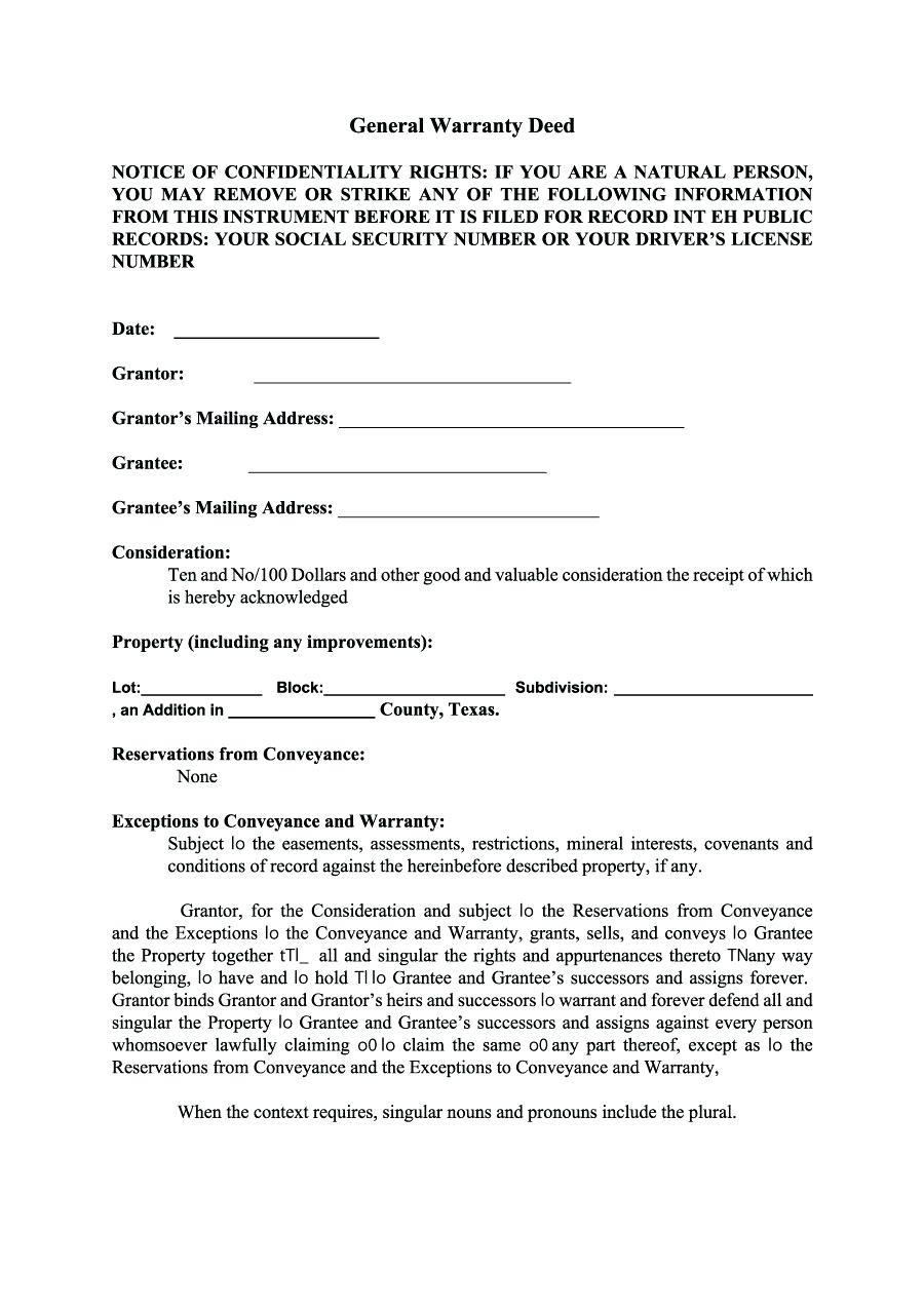 Driveway Easement Agreement Template