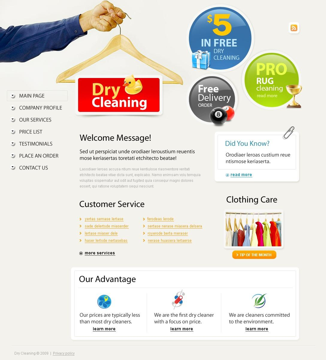 Dry Cleaner Website Template