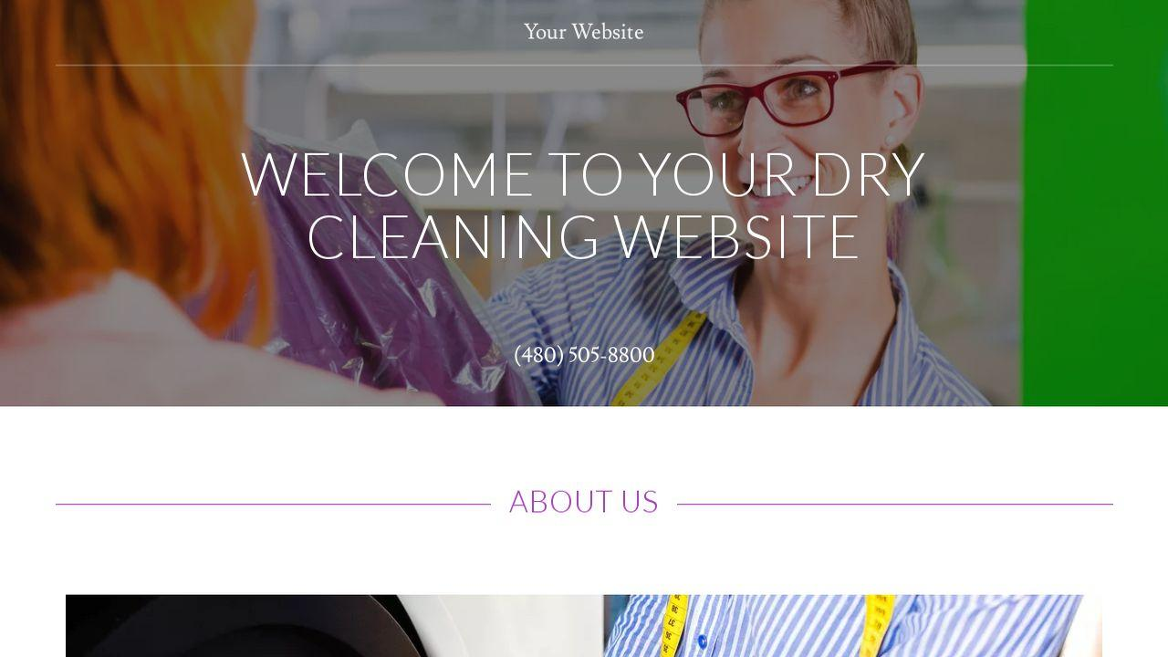 Dry Cleaning Website Templates