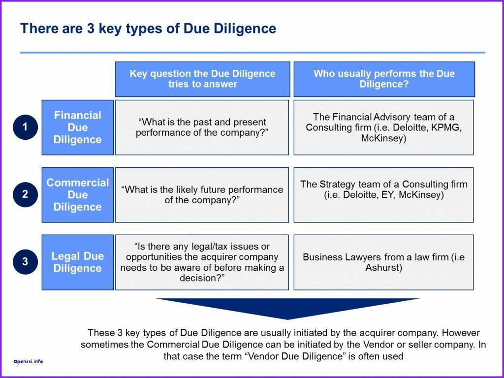 Due Diligence Report Template South Africa