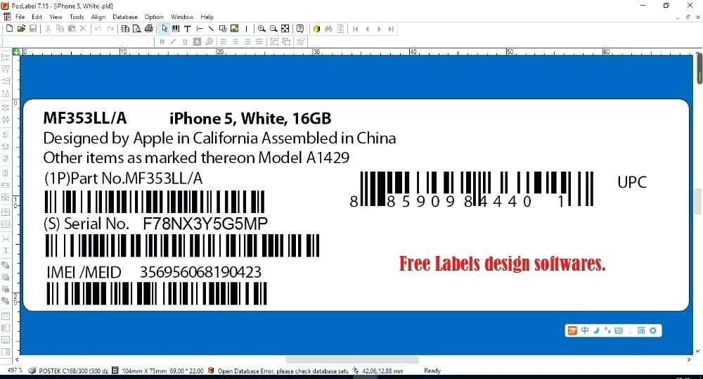 Dymo Printer Label Template