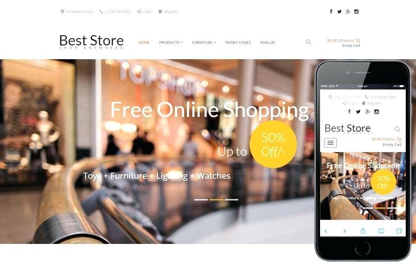 E Commerce Websites Templates Free Css