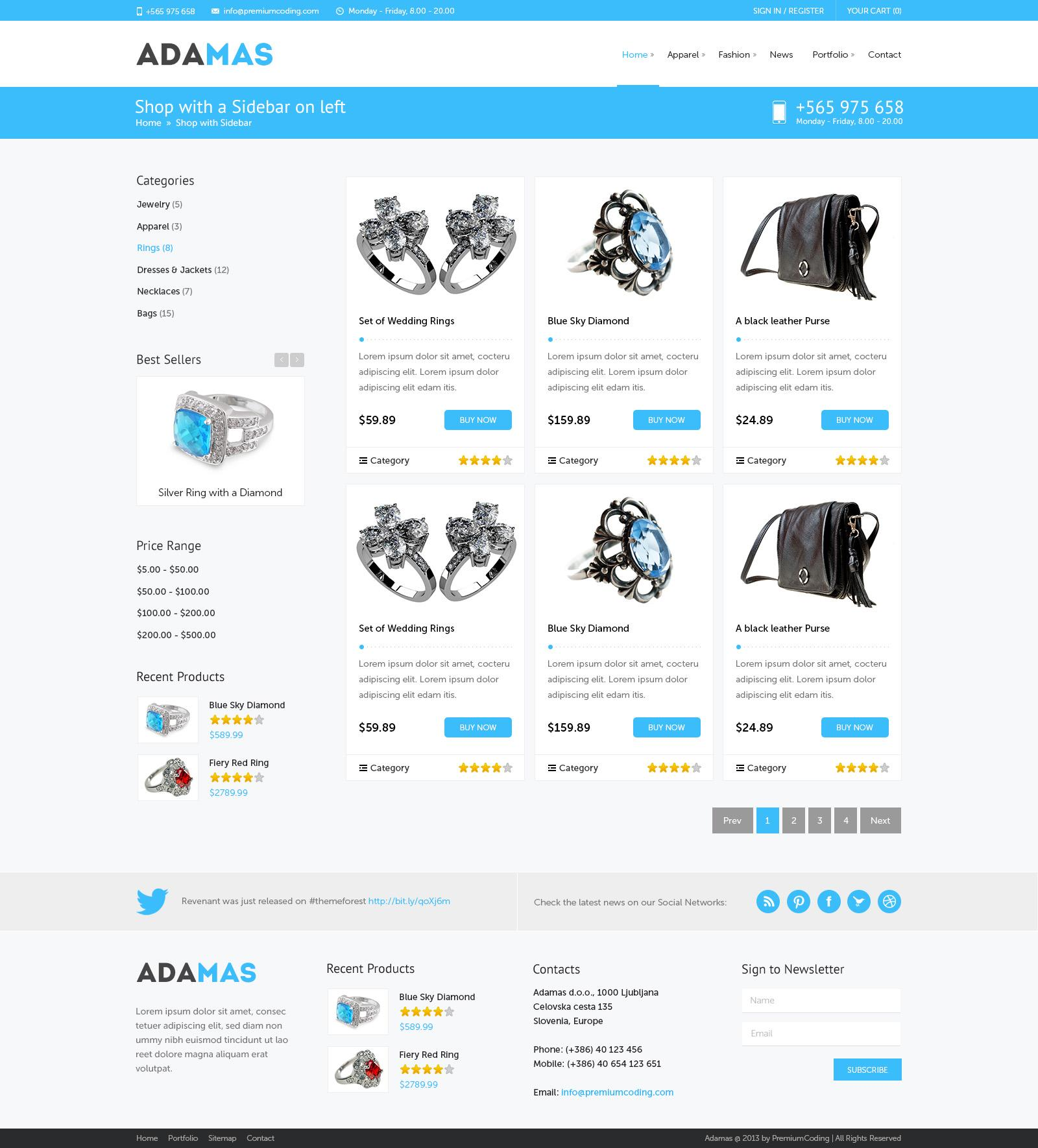 E Commerce Websites Templates Free Download In Html