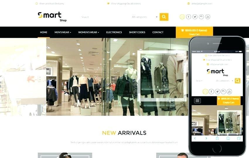 E Commerce Websites Templates Free Php